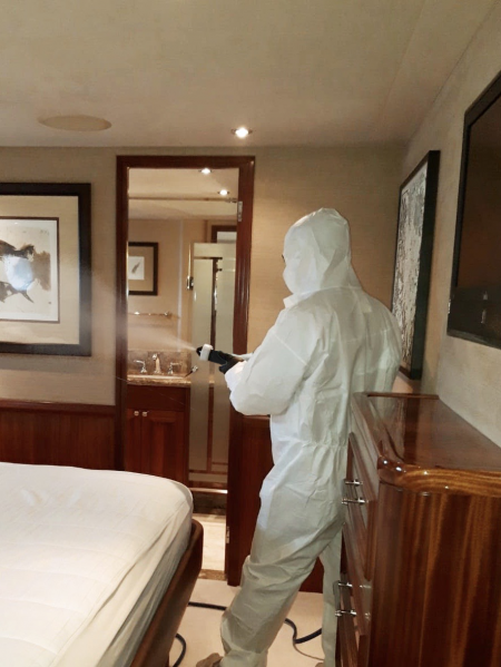 Coronavirus Disinfection in Yachts